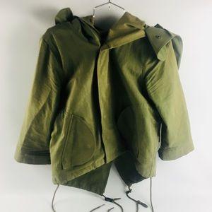 Nicholas K Army Green Light Rain Jacket Hood L